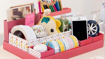 Hướng dẫn cách làm hộp đựng mỹ phẩm handmade bằng giấy